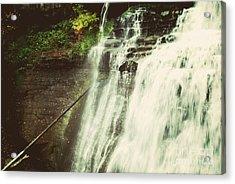 Bradywine Falls Acrylic Print by Rachel Barrett