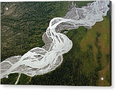 Braided River Acrylic Print by Dr Juerg Alean/science Photo Library