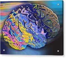 Brain Colours Acrylic Print by Soumya Bouchachi