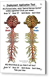 Brain Compared With Smoking Brain Acrylic Print