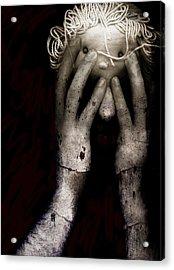 Brain Fight Acrylic Print by Johan Lilja
