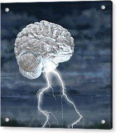 Brainstorm Acrylic Print by Russell Kightley