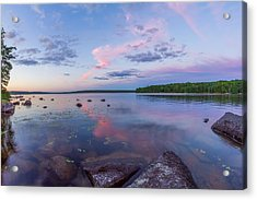 Branch Lake Mirror Sunset Acrylic Print