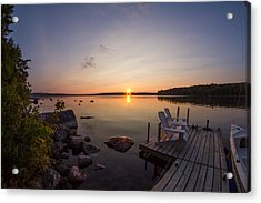 Branch Lake Sunrise In Maine Acrylic Print
