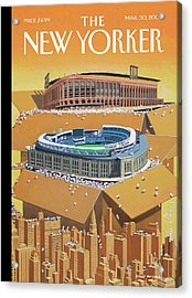 Brand New Yankee's And Met's Stadiums Coming Acrylic Print