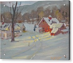 Acrylic Print featuring the painting Brandon Farm by Len Stomski