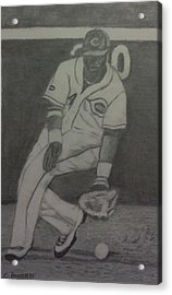 Acrylic Print featuring the drawing Brandon Phillips by Christy Saunders Church