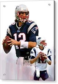 Brady II  Tom Brady Acrylic Print