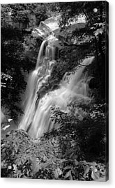 Brandywine Falls Black And White Acrylic Print