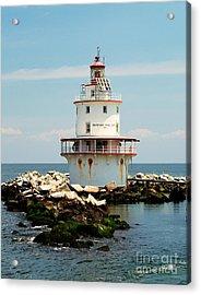 Brandywine Shoal  Lighthouse Acrylic Print by Nick Zelinsky