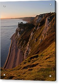 Branscombe Cliffs In Devon Acrylic Print