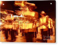 Brass Band At Night Acrylic Print by James Brunker