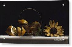 Brass Basket No.2 Acrylic Print by Larry Preston