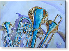 Brass Candy Trio Acrylic Print by Jenny Armitage