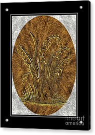 Brass Etching - Oval - Lily Of The Valley Acrylic Print