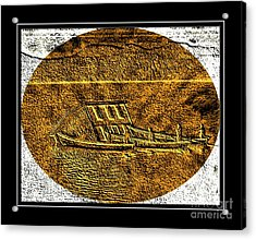 Brass Etching - Oval - Moving House By Water Acrylic Print