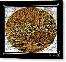 Brass Etching - Oval - Lighthouse Acrylic Print