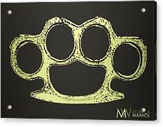 Brass Knuckles Acrylic Print by Monica Warhol