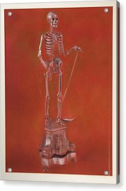 Brass Skeleton Acrylic Print