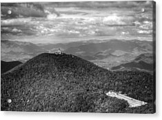 Brasstown Bald In Black And White Acrylic Print