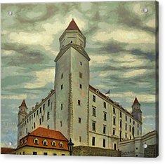 Bratislava Castle Acrylic Print by Jeff Kolker