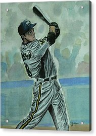 Acrylic Print featuring the painting Braun by Dan Wagner