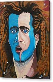 Brave Heart  Mel Gibson Acrylic Print