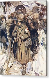 Brave Nurses In The Retreat Acrylic Print by Cyrus Cuneo