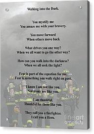 Brave Poem Acrylic Print