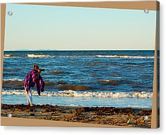 Braving For That Perfect Shot Acrylic Print by Ron Haist