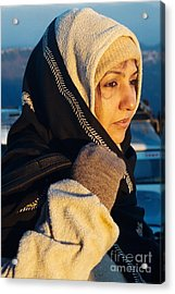 Acrylic Print featuring the photograph Braving The Cold by Fotosas Photography