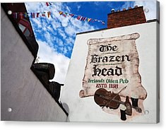 Brazen Head Pub Sign, Bridge Street Acrylic Print by Panoramic Images
