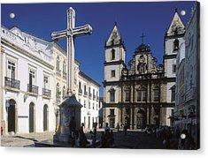 Brazil. Salvador. Church Of Sao Acrylic Print by Everett