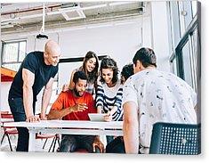 Brazilians Working Together Acrylic Print by Cokada