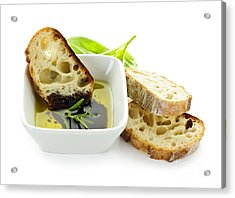 Bread Olive Oil And Vinegar Acrylic Print by Elena Elisseeva
