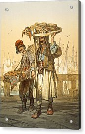 Bread Sellers On The Quay, 1865 Acrylic Print by Amadeo Preziosi