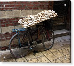 Acrylic Print featuring the photograph Bread To Go In Cairo by Jacqueline M Lewis