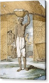 Breadmaker, From The Hindus, Or Acrylic Print by Franz Balthazar Solvyns