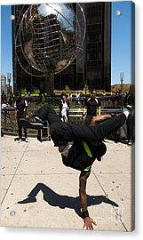 Break Dancer  Columbus Circle Acrylic Print by Amy Cicconi