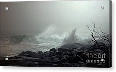 Break In The Storm Acrylic Print by Christopher Mace