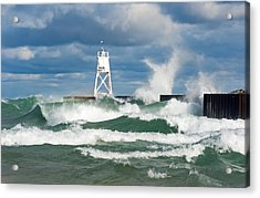 Break Wall Waves Acrylic Print
