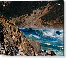 Breakers At Pt Reyes Acrylic Print by Bill Gallagher
