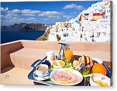 Breakfast At Terrace Acrylic Print