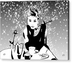 Breakfast At Tiffany's Bw Acrylic Print