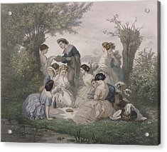 Breakfast In The Spring, Engraved By Regnier, Bettannier And Morlon Colour Litho Acrylic Print