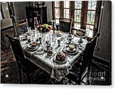 Downton Abbey Breakfast Acrylic Print by The Art of Alice Terrill
