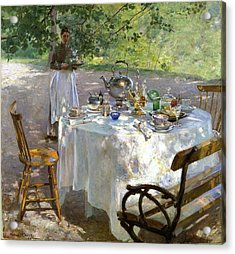 Acrylic Print featuring the painting Breakfast Time by Hanna Pauli
