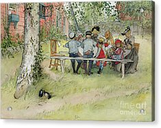 Breakfast Under The Big Birch Acrylic Print by Carl Larsson