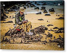 Acrylic Print featuring the photograph Breakfast With Friends by Rob Tullis