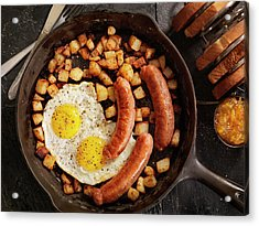 Breakfast With Sunny Side Up Eggs And Acrylic Print by Lauripatterson